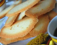 Italian vanilla biscuits: Recipes: Good Food Channel brown edge wafers!