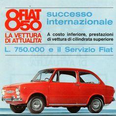 Fiat 850 reclame: un grande successo Fiat 850, 70s Cars, Car Advertising, Maserati, Vintage Ads, Peugeot, Classic Cars, Automobile, Success