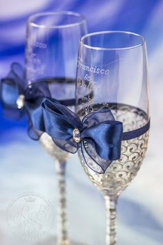 Royal blue and silver wedding bride and groom by RusticBeachChic