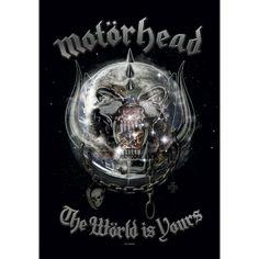 The World Is Yours - Bandera por Motörhead - Número Artículo: 196673 - desde 7,99 € - EMP tienda online de Camisetas, Merchandise, Rock, Hea...
