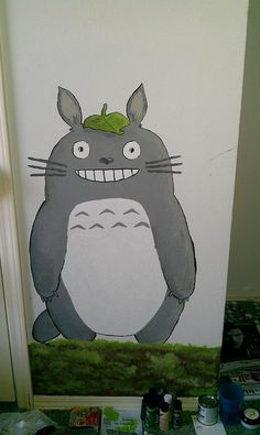 Totoro I painted for the baby nursery