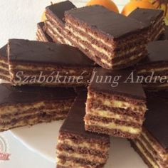 Malakov torta sütés nélkül Hungarian Desserts, Hungarian Recipes, No Bake Desserts, Cake Cookies, Nutella, Sweet Recipes, Food Porn, Food And Drink, Cooking Recipes
