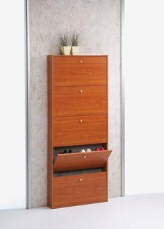 Tvilum Springfield 5-Drawer Shoe Cabinet in Cherry - Wayfair