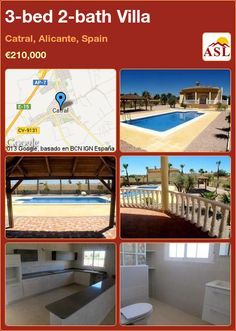 3-bed 2-bath Villa in Catral, Alicante, Spain ►€210,000 #PropertyForSaleInSpain