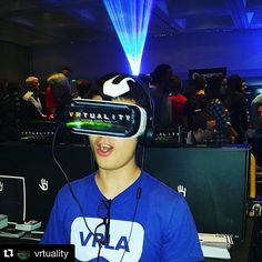 An awesome Virtual Reality pic! #Repost @vrtuality  Thx @blosmo (#vrla #founder) for trying @vrtuality's demo enhanced by @subpac at #vrlasummerexpo.  @vrlosangeles #VR #VirtualReality #Vrtuality #subpac by edmxlive check us out: http://bit.ly/1KyLetq