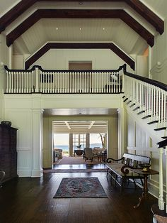 Traditional staircase, designed by Stuart Silk Architects, www.stuartsilk.com, #traditionalstaircase, #traditionalarchitecture