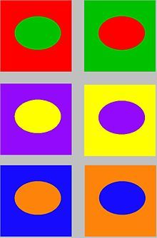Complementair kleur contrast