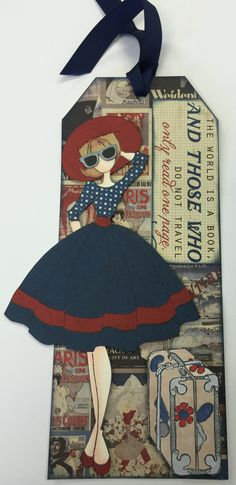 "This tag was made using Prima Doll ""Audrey"" Stamp can be found at ascrapnplace.com"