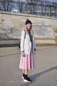 Pink Midi Skirt, Paris - Trendycrew