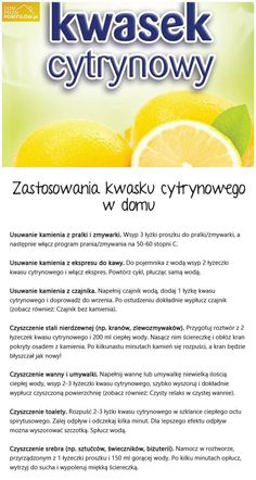 stylowi_pl_diy-zrob-to-sam_25382608 Homemade Detergent, Simple Life Hacks, Slow Food, Good Advice, Better Life, Food Hacks, Good To Know, Cleaning Hacks, Health And Beauty