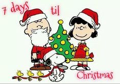 7 Days Til Christmas quotes quote snoopy christmas christmas quotes christmas countdown