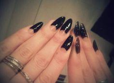 "Mavala 252 ""Black Velvet"" nail polish, very dark almost black purple #halfmoon #manicure #mavala #nails #autumn #almond #shape"