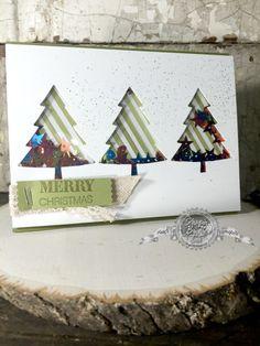 Peaceful Pines stamp set, Shaker Cards, Christmas, Christmas DIY, DIY, Christmas Cards, StampinByTheSea.com