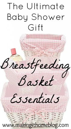 A breastfeeding basket is the ultimate #babyshower gift for expecting mamas! This post has some great ideas on what to include in a breastfeeding basket for moms who want to nurse their babies.
