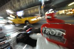 Team Penske Car #6 waits to be loaded into Macy's Herald Square in New York City.