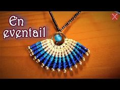 Macrame necklace tutorial - the simple En eventail pattern - clearly guide - YouTube