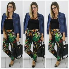 Look de hoje, me sentindo muito blogueira com a jaqueta nos ombros!  Calça pijama da loja Perfeita na Saara (24,99), blusa Objetiva (4,99), sapatilha Moleca da Styllus (39,90), bolsa Crystar da Saara (60,00) e jaqueta muito antiga! #lookdodia #dehoje #lookbarato #modabarata #ootd #instalook #instafashion #love #achados #instablogger #instapost #fashionpost #fashionlook #fashionstyle  #fashiongirl #outfit #lookdamarina