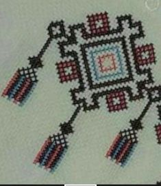 This Pin was discovered by Еле Folk Embroidery, Beaded Embroidery, Cross Stitch Embroidery, Cross Stitch Patterns, Embroidery Designs, Cross Stitch Geometric, Bargello Needlepoint, Palestinian Embroidery, Mini Cross Stitch