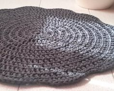 SALE Crochet rug from cotton cord by ZoZulkaart on Etsy