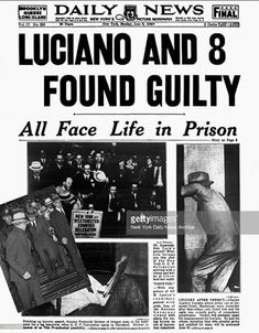 Luciano prison headlines.