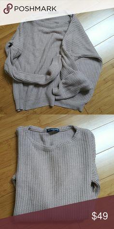 Blush brandy melville ollie sweater rare Highly sought after brandy melville ollie sweater. In a Blush pink color. Bm brandy john galt. Cute knit sweater  Tags aa american apparel unif style Brandy Melville Sweaters