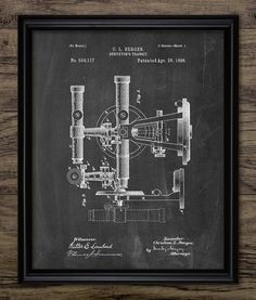 Surveyor's Transit Patent Print  Survey by InstantGraphics on Etsy