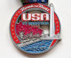 Rock 'n' Roll USA half marathon 2014 medal