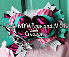 OTT WILD THANG Hair Bow by 2CuteBOWtiqueandMore on Etsy, $16.00