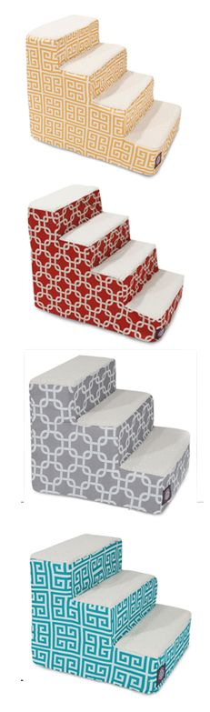 Stairs for your pet! 3-step or 4-step. Lots of color options. Help your dog or cat get up and down without having to jump!