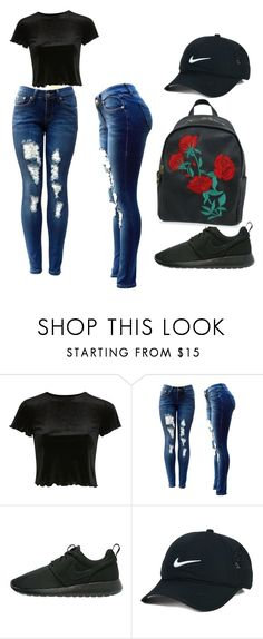 """""""Untitled #28"""" by khswims on Polyvore featuring Topshop and NIKE"""