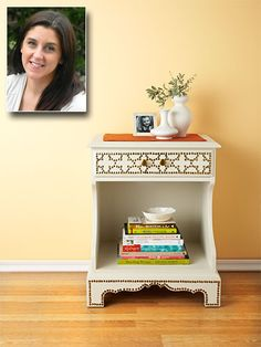 Congrats to @Mad in Crafts for this brilliant (and cost-efficient!) side table upgrade. Click for the secret to making this look so good. http://www.womansday.com/home/craft-ideas/table-craft