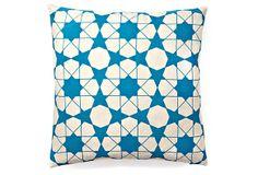 $49 Rabat 20x20 Cotton Pillow, Blue on OneKingsLane.com