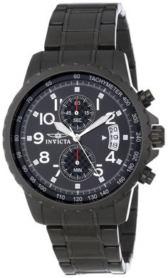 Men watches : Invicta Men's 13787 Specialty Chronograph Black Dial Black Ion-Plated Stainless Steel Watch