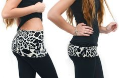 Leggings with a Lavish Leopard Camiband added for great workout style!