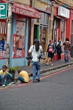 Street scene, Observatory, Cape Town, South Africa, June 2013 by Karin Henriqeus