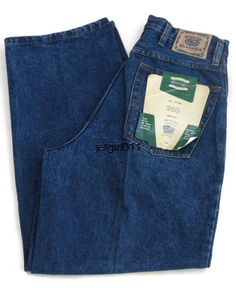 ENCO Mens Jeans Hip Hop Urban Dark Blue Green Tint 37 x 28 New ...