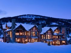 Slopeside Chalets is a picturesque two-storey ski lodge located in the exclusive Yellowstone Club in Big Sky, Montana