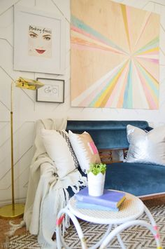 Creating a Home: 15 Ideas for Making Displaying Art — Renters Solutions Decor, Home Diy, Renters Solutions, Small Decor, Plywood Art, Vintage Revival, Diy Decor, Home Decor, Diy Wall Art