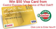 Castrol Express Car Service of Red Oak gives away a $50 Visa Gift Card every month. Anybody can play, even if they don't live in Red Oak! To Enter, simply click this link!