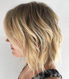 medium layered hair cuts for fine hair Blonder Messy Bob, Messy Blonde Bob, Bob Hairstyles For Fine Hair, Medium Bob Hairstyles, Pretty Hairstyles, Hairstyle Ideas, Thin Hair Cuts, Medium Hair Cuts, Half Updo