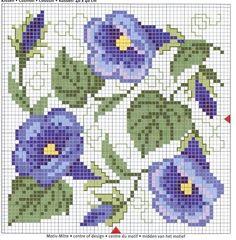 morning glory cross stitch pattern…