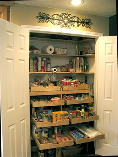 Nice Pantry!  Room for Everything -maybe my closet could do this. Tc