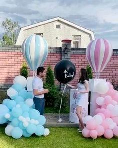 Gender Reveal Video, Gender Reveal Party Games, Pregnancy Gender Reveal, Gender Reveal Balloons, Gender Reveal Party Decorations, Gender Party, Baby Shower Gender Reveal, Reveal Parties, Baby Shower Themes