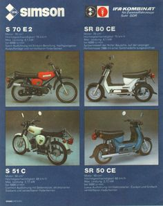Simson - DDR in Color - Auto- und Motorraddesign East German Car, Ddr Brd, Beast From The East, East Germany, Honda Cb, Good Old, Road Bike, Cars And Motorcycles, Mopeds