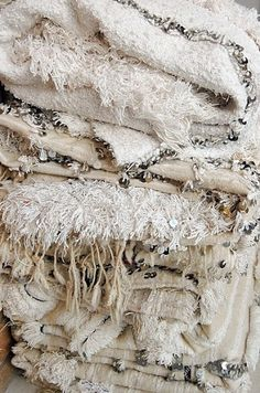 Moroccan wedding blankets.