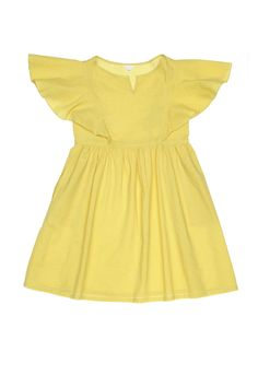 I love yellow on children, not pastel yellow. Dresses with sleeves.