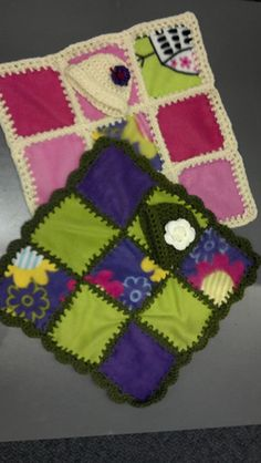 No-Waste Fleece Baby Quilt. Here is how to use up the scraps leftover from no-sew baby blankets!