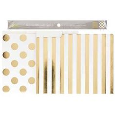 Gold Foil Dots Striped File Folders With Labels Hobby Lobby Wedding Invitations Finding A Hobby Hobby Lobby