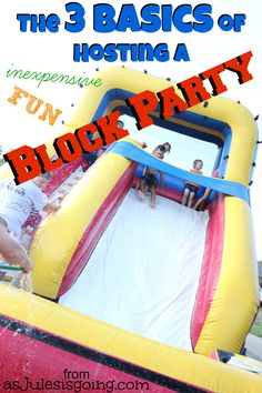 The 3 Basics of Hosting a Block Party - get out and get to know your neighbors this fall! Great post via Homemaker's Challenge.