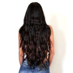 Frida Grahn, hair, waves, waves without heat, curly, long hair, dark hair